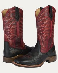 Men's All-Around Boots Square Toe Rugged (Noble Colors: Black/Red, Noble Sizes: 8 Reg)
